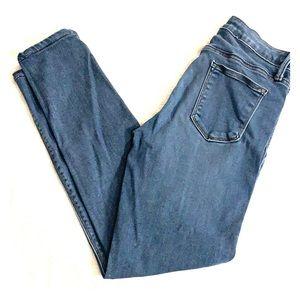 EUC Just Black High Waist Light Skinny Jeans